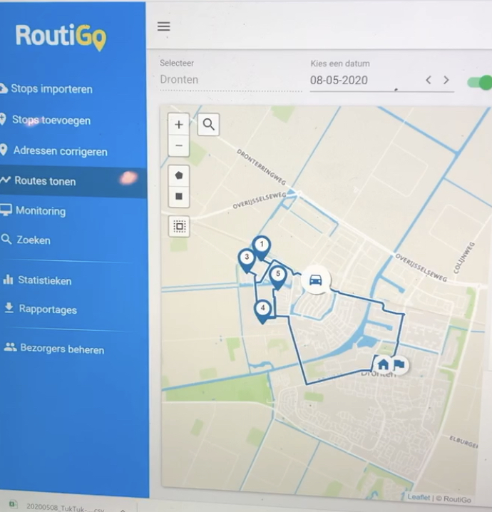 Routeplanning software